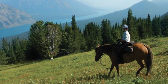 Una settimana a cavallo in British Columbia, Canada